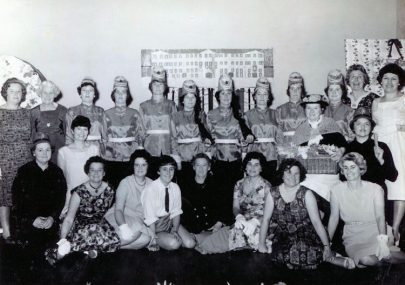 Three photos of the Methodist Wives Club 60s or 70s