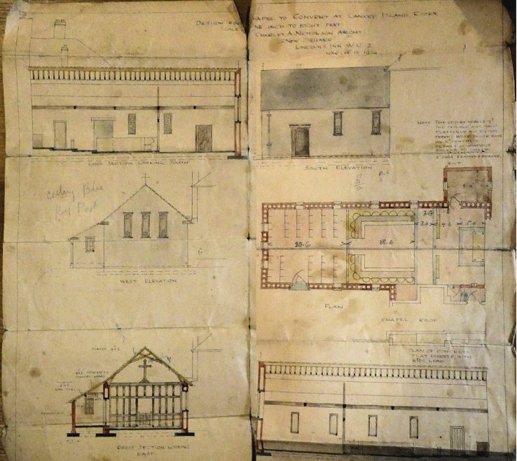 Plans for Convent Chapel | Courtesy of Douai Abbey Library and Archives