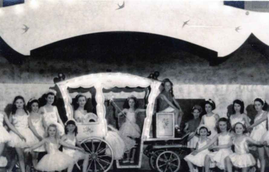 Cinderella's Coach that was loaned to them by the BBC | Irene Bailey