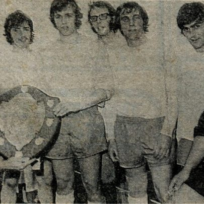 Newlands winning soccer team get their trophy