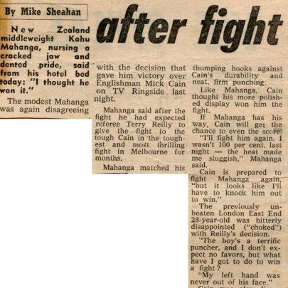 Mick in Australia 1970