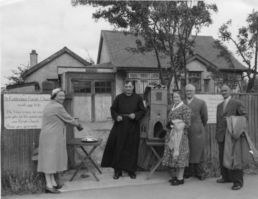 Raising funds for St Katherine's 1954. I believe the Vicar is Rev David Cullen | Phyllis Owens