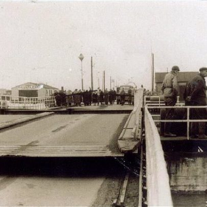 A photo of the opened bridge looking towards Canvey