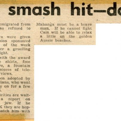 Mick down under. Stratford and Newham Express   Mick Cain