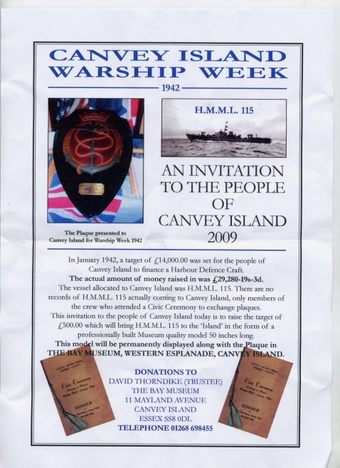 An Invitation to the People of Canvey Island 2009