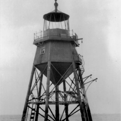 The Chapman Lighthouse, possibly shortly before it's removal. | A.Fitzpatrick/K.Harding