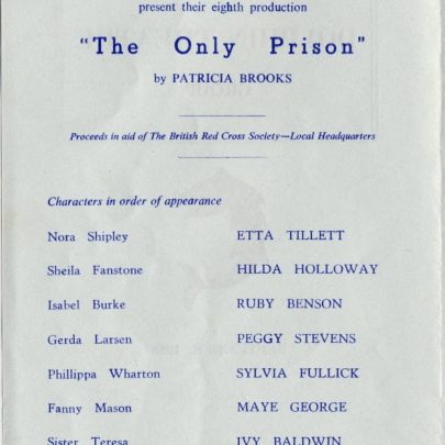 Programme from 'The Only Prison' | Dudley George