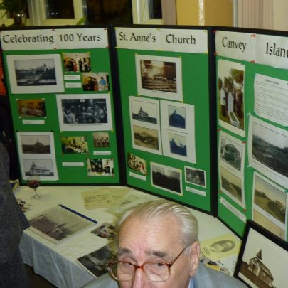 A display showing 100 years of St Anne's History   Janet Penn