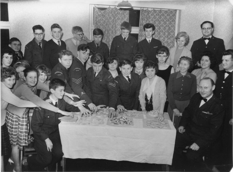 Far Right back Alan Whiting, his wife Sheila is the third from the right and next to Phyllis who is standing on her husbands right. Also in the picture Shamus McDermott, Tom Bonnet and Phyllis' daughter Kathleen at the front far left | Phyllis Owens