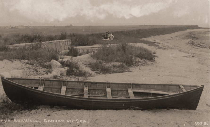 Very early A J Padgett postcard looking East from what looks to me like Thorney Bay. Date of the Postcard is c1910