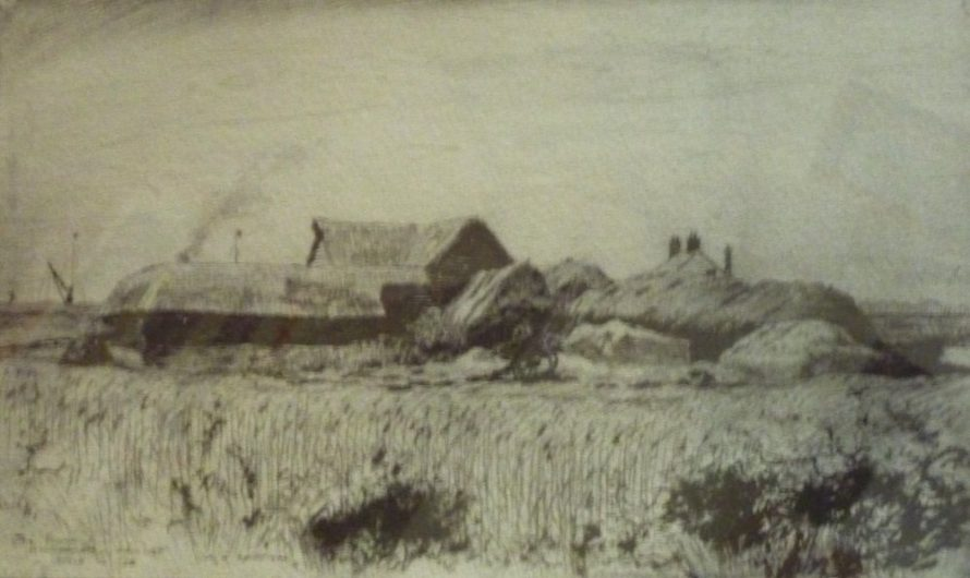 Drawing of Sluice Farm by William Henry Caffyn | Jill Goodchild