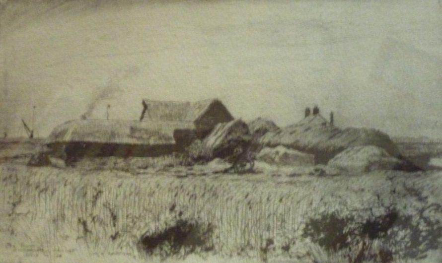 Drawing of Sluice Farm by William Henry Caffyn | Jill Goodchild