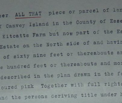 Excerpt from the contract dated 1933 re Clifton Estate