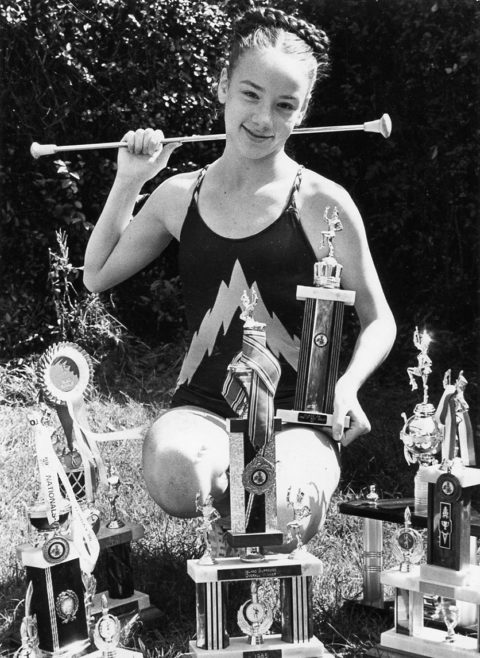 Kay Norman and some of her trophies | Echo Newspaper Archive