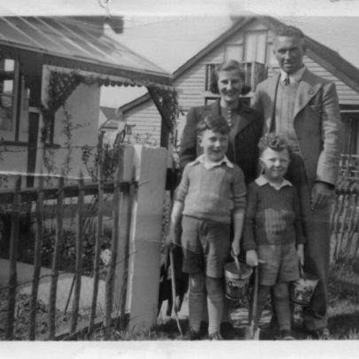 Marjorie, her husband Fred and two boys, Bob and Tom | Marjorie Parks