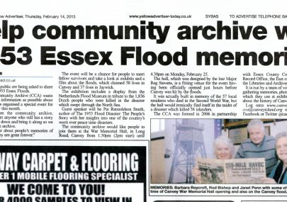 The Archive and our Flood Event