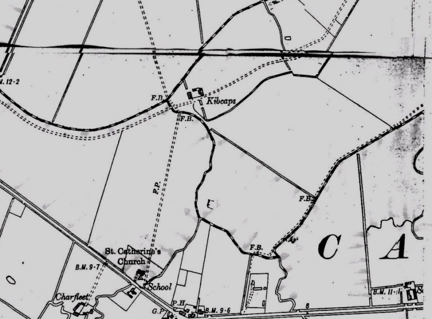 1898 showing Kibcaps Farm