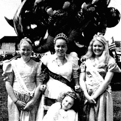 Princesses Sallyann Foale and Zowie Tatham, Queen Amy Seaton and Mascot Charlotte Spinks | Mary Nash-De-Villiers