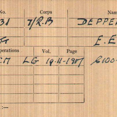 War Medal Card
