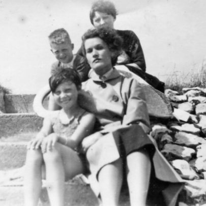 Pat and family near the cafe 1955 | Pat Bailey