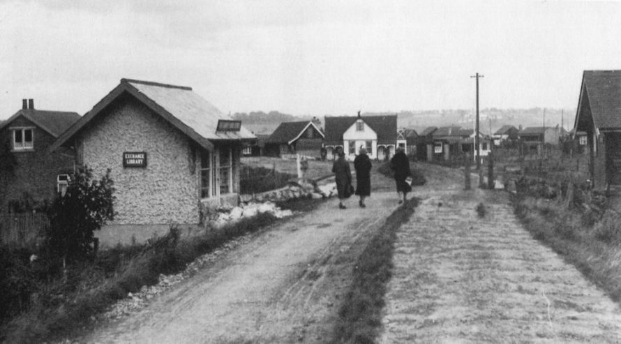 Very early photo with an unmade Knightswick Road | Courtesy of Transport Museum