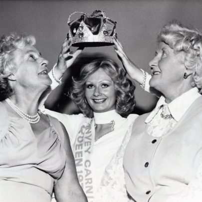 1975 Lesley Hodder with Carnival Queen and Princess from 1933