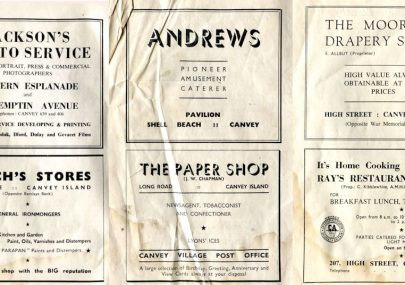 Canvey Adverts 1954
