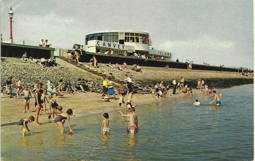 Labworth Cafe and Beach Postcard
