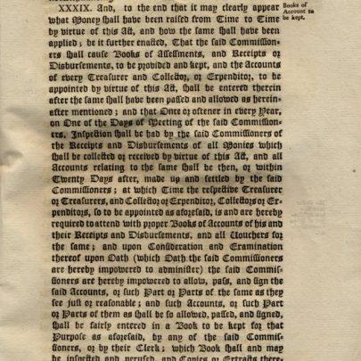 1792 Act ; Original Copy.