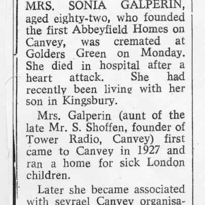 Part of Sonia's Obituary | Pamela Winborne
