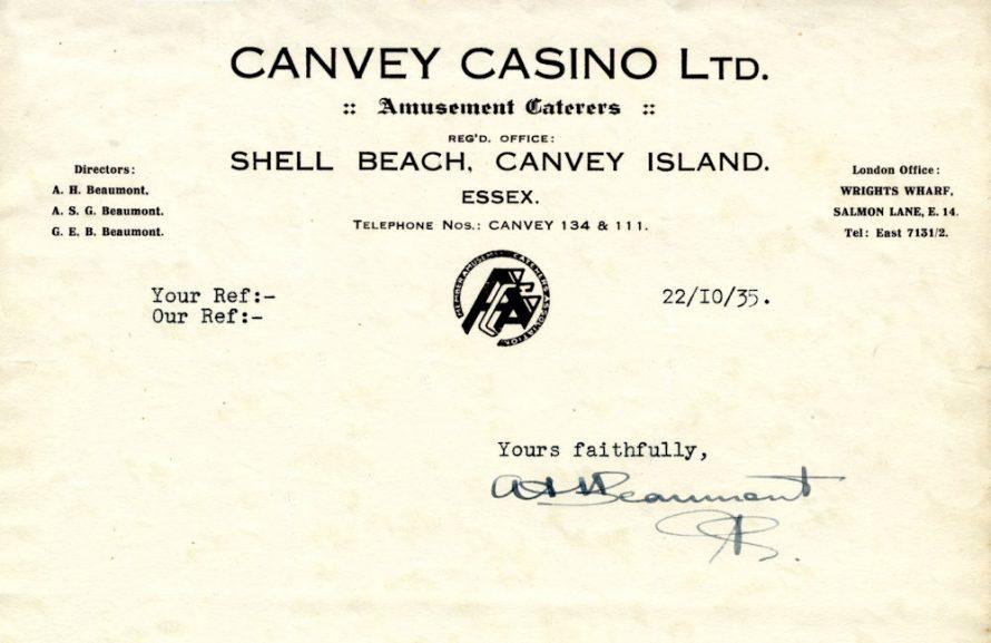 Casino Letter Head