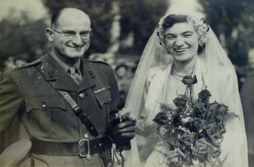 The marriage of Lt. Col. Horace Percy Fielder and Barbara Fuller on the 18 Sep 1952 at St Katherine's Church | Courtesy of the Bay Museum