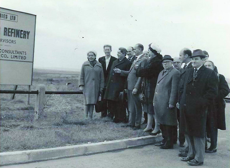 Mikhail Gorbachev at the proposed Refinery site   Blackwell family
