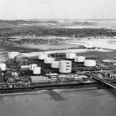 1979 Methane gas tanks on right | Echo Newspaper Archive