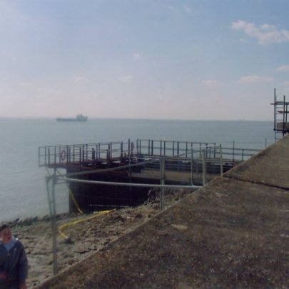 New Sluice housing being built at the seafront