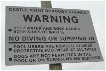 Safety Notices. Sign at the new pool | Colin Letchford