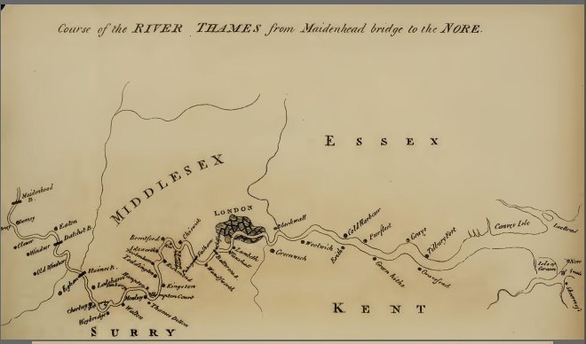 Map of the River Thames c1792 | Samuel Ireland