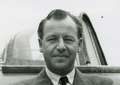 Death of Geoffrey de Havilland jnr when his experimental jet exploded.