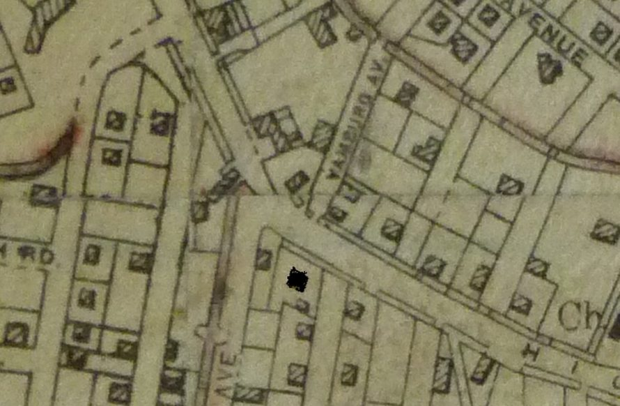 1930's map. The building marked in black opposite Yamburg Road is the location of The Moorings | Swanson