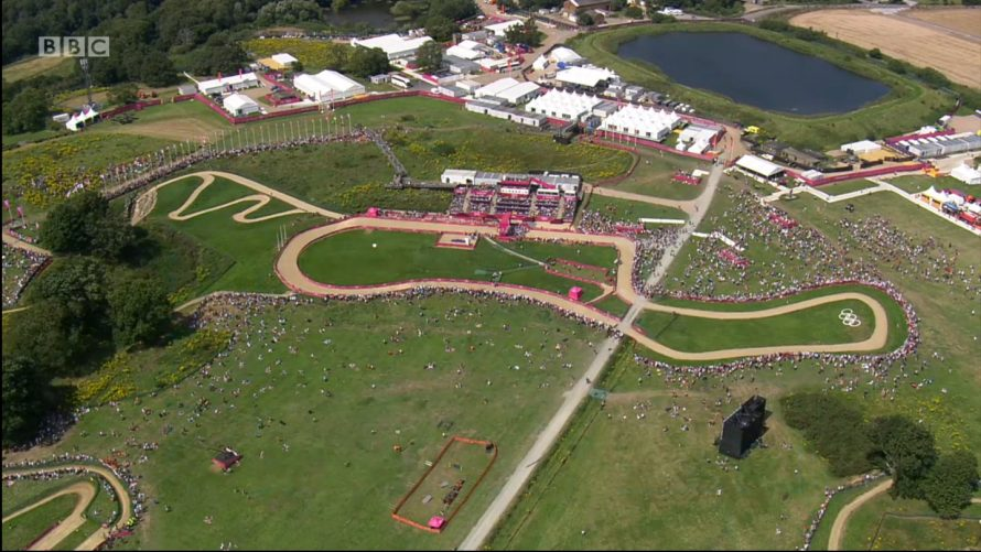 Fantastic Aerial picture of part of the course | BBC