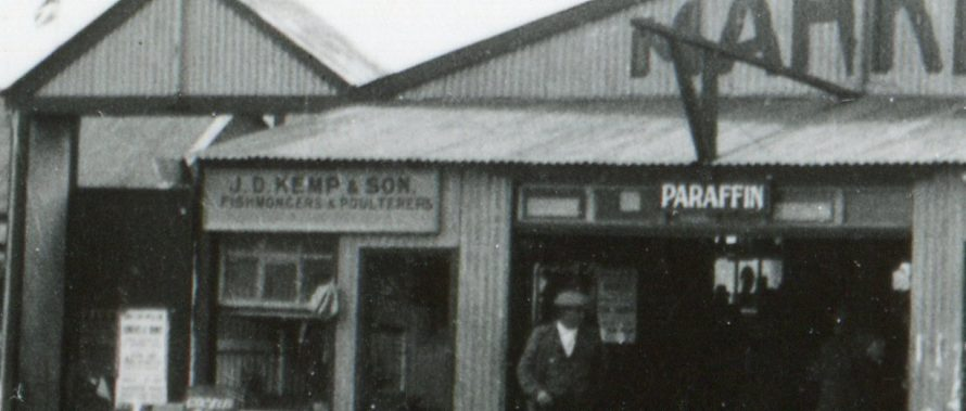 Close-up of one of the signs - J D Kemp & Son Fishmongers and Poulterers
