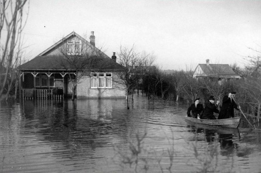 Mabel Lewis being rescued