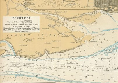 Map of Canvey dated 1943