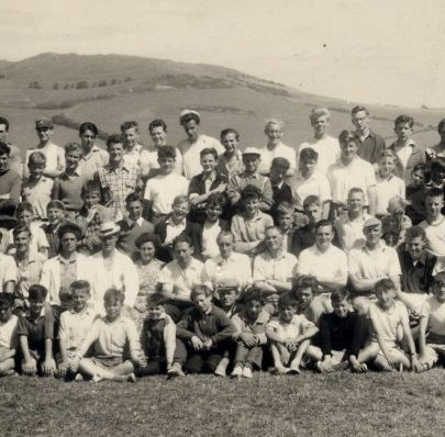 1956 Ealing Battalion Camp at Chideock in Dorset. 10th Southend (Canvey Company) and possibly Pitsea Company were guests. Graham Stevens says this was the only time he was under canvas   Stevens