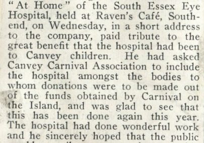 "South Essex Eye Hospital ""At Home."""