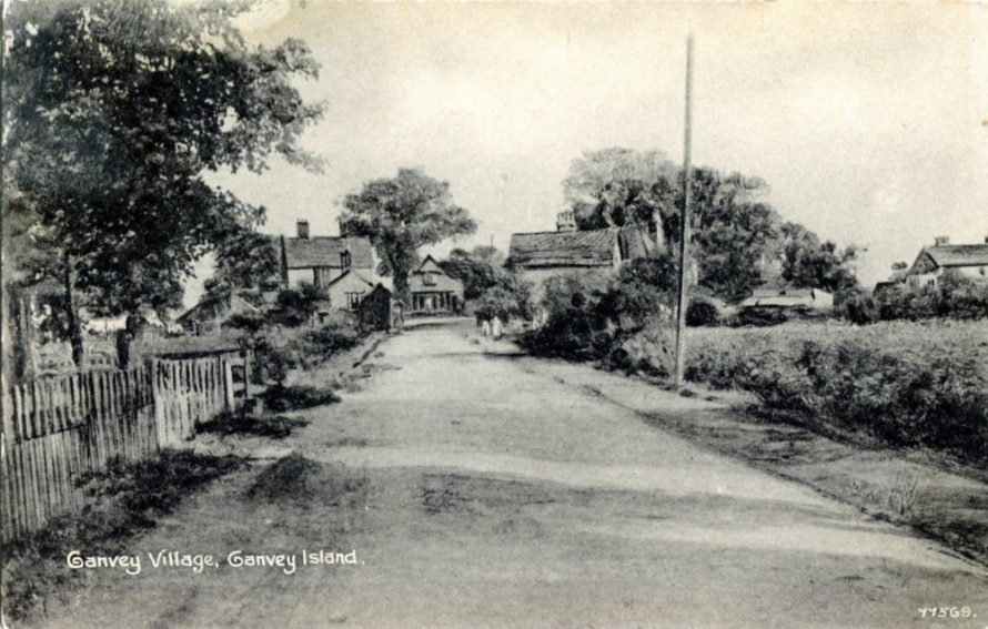 Entering the village from the west