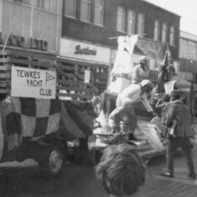 In the procession at Furtherwick Road by Woolworths