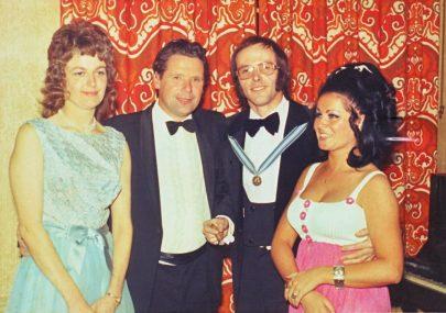 Alan & Ann Aldridge with a local councillor and his wife