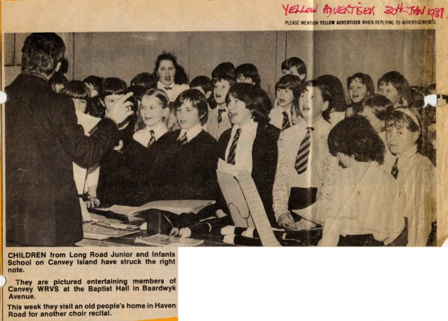 Newspaper clipping from the Yellow Advertiser 1981 | WRVS