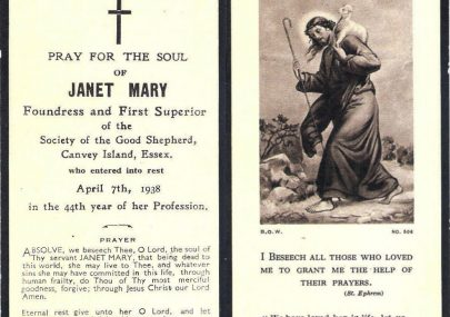 Janet Mary, Foundress and First Superior